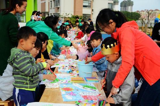 社区举办 未来社区蓝图 家庭绘画大赛